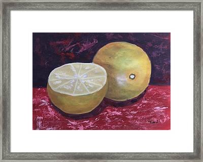Naranja Framed Print