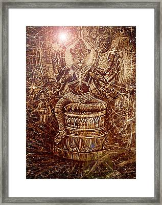 Narasimha Divine Protector Framed Print by Michael African Visions