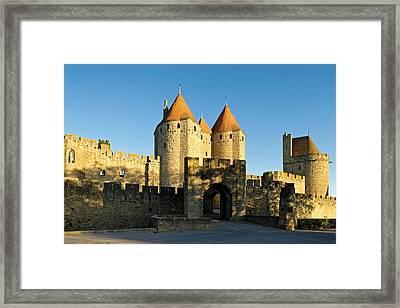 Narbonne Gate Carcasonne Framed Print