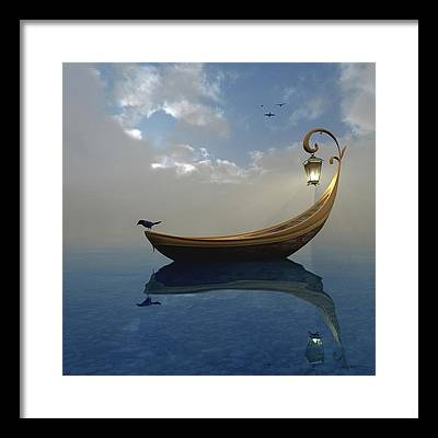 Boat Digital Art Framed Prints