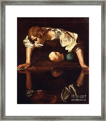 Narcissus Framed Print by Pg Reproductions