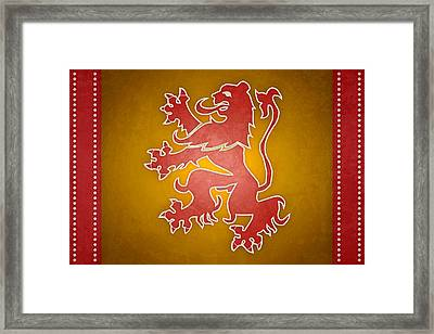 Narnia Flag Of War Framed Print