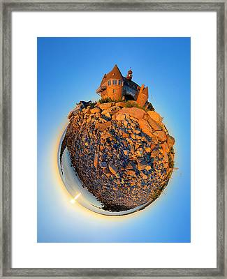 Narraganset Towers 2- Planet Framed Print
