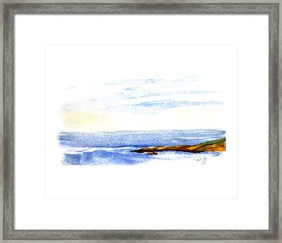 Narragansett Rocks Framed Print