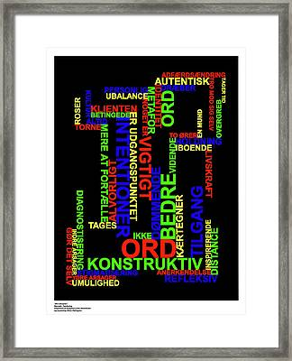 Narrativ Taenkning Danish Framed Print by Asbjorn Lonvig