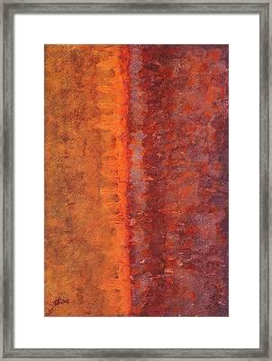 Narrow Divide Original Painting Framed Print by Sol Luckman
