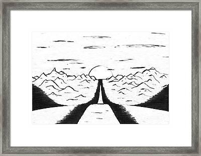 Narrow Gate Framed Print by Adam Wells