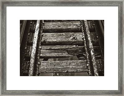 Narrow Gauge Tracks #photography #art #trains Framed Print