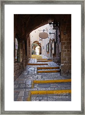 Narrow Old Style Street Framed Print by Jeremy Woodhouse