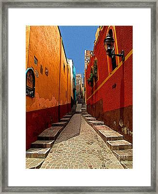 Narrow Passage Framed Print by Mexicolors Art Photography