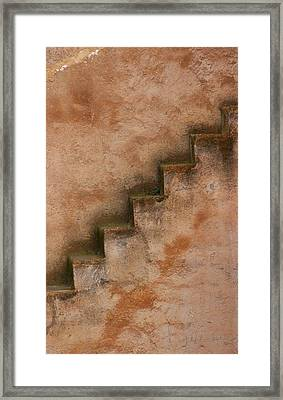 Framed Print featuring the photograph Narrow Stairs by Ramona Johnston