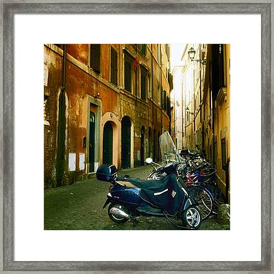 narrow streets in Rome Framed Print by Joana Kruse