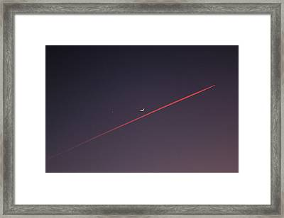 Narrowly Missed The Moon Framed Print