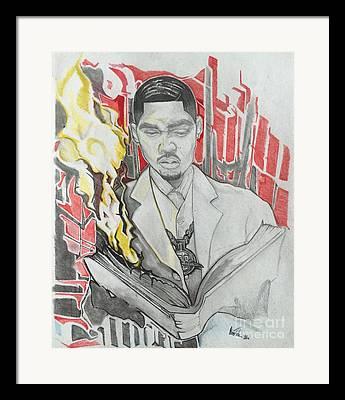 Nasir Jones Mixed Media Framed Prints