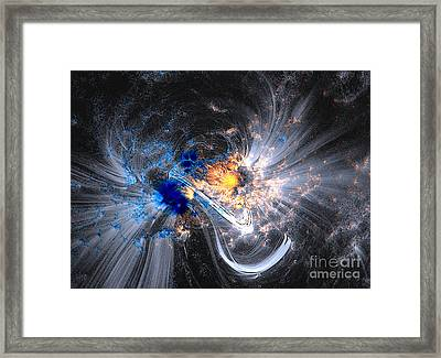 Framed Print featuring the photograph Nasa Coronal Loops Over A Sunspot Group by Rose Santuci-Sofranko
