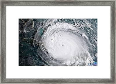 Nasa Hurricane Irma Satellite Image Framed Print
