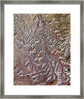 Nasa Image-canyonlands National Park, Utah-2 Framed Print