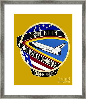 Nasa Sts-61-c Mission Patch Framed Print