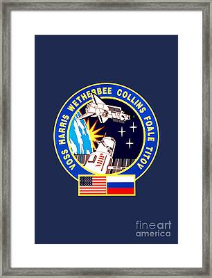Nasa Sts-63 Mission Insignia Framed Print