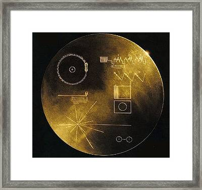 Nasas Voyager 1 And 2 Spacecraft Framed Print by Everett
