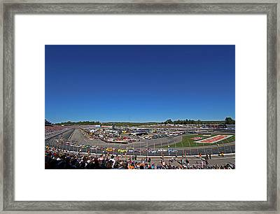 Nascar Framed Print by Juergen Roth