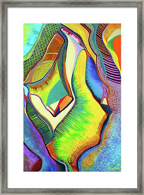 Framed Print featuring the painting Nascent Bud by Polly Castor