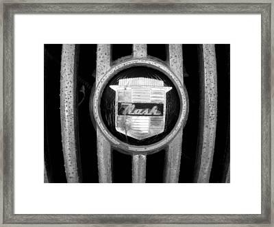 Nash Emblem Framed Print by Audrey Venute
