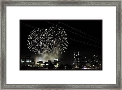 Nashville 4th Of July Framed Print by Sheri Bartoszek
