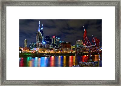 Nashville After Dark Framed Print