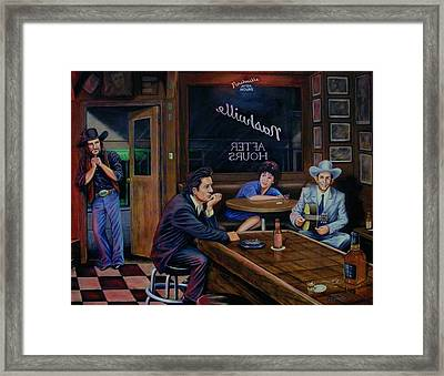 Nashville After Hours Framed Print by Antonio F Branco