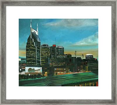 Nashville At Dusk Framed Print
