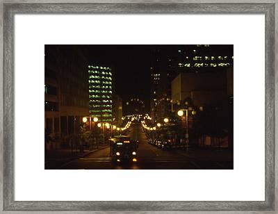 Nashville At Nite - 3 Framed Print by Randy Muir