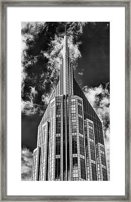 Nashville Att Building Framed Print by Stephen Stookey