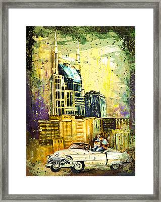 Nashville Authentic Madness Framed Print by Miki De Goodaboom