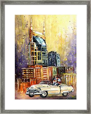 Nashville Authentic Framed Print by Miki De Goodaboom