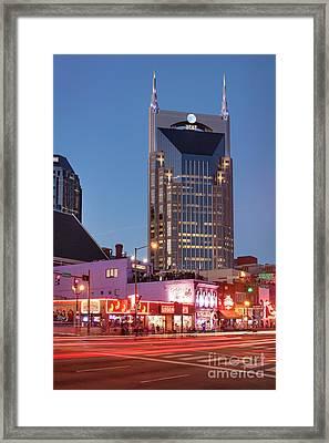 Framed Print featuring the photograph Nashville - Batman Building by Brian Jannsen