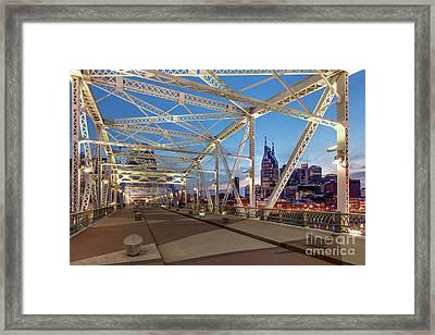 Framed Print featuring the photograph Nashville Bridge by Brian Jannsen