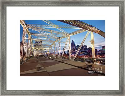 Framed Print featuring the photograph Nashville Bridge II by Brian Jannsen
