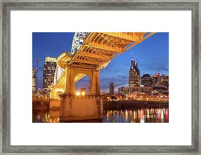 Framed Print featuring the photograph Nashville Bridge IIi by Brian Jannsen