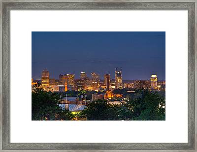 Nashville By Night 2 Framed Print