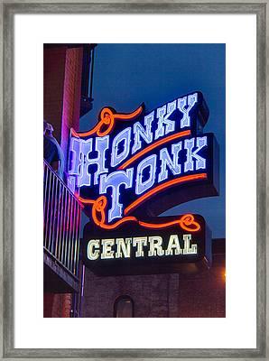 Nashville Honky Tonk Central Framed Print