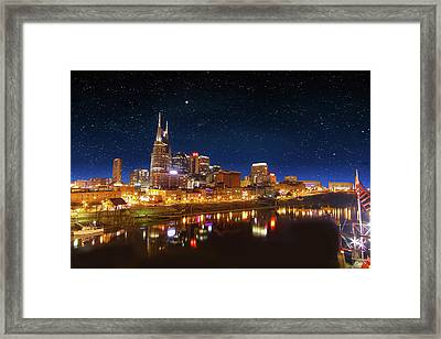 Nashville Nights Framed Print by Robert Hebert