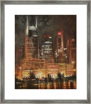 Nashville Nights Framed Print by Tom Shropshire