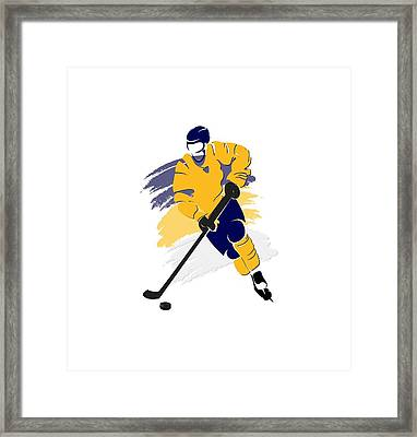 Nashville Predators Player Shirt Framed Print by Joe Hamilton