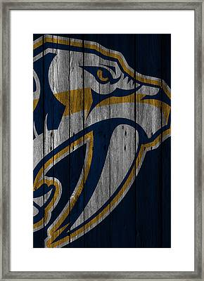 Nashville Predators Wood Fence Framed Print by Joe Hamilton