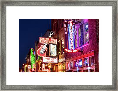 Framed Print featuring the photograph Nashville Signs by Brian Jannsen