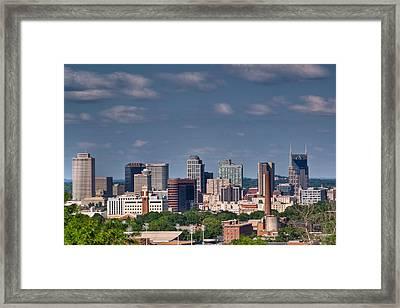 Nashville Skyline 1 Framed Print by Douglas Barnett