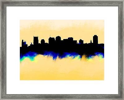 Nashville  Skyline  Framed Print by Enki Art