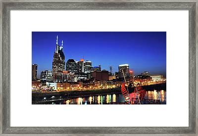 Nashville Skyline Framed Print by Giffin Photography