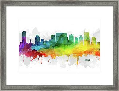 Nashville Skyline Mmr-ustnna05 Framed Print